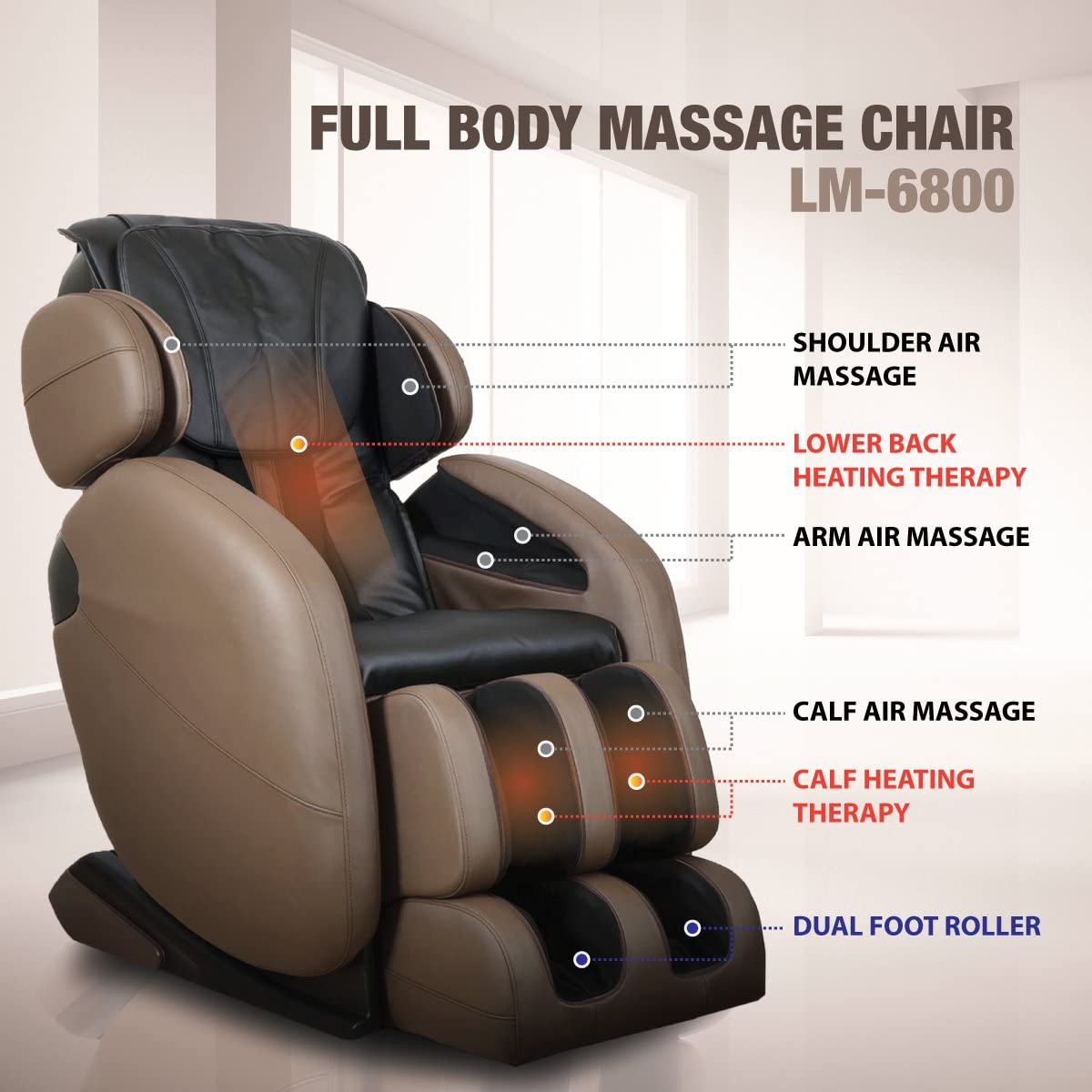 LM 6800 recliner for back pain