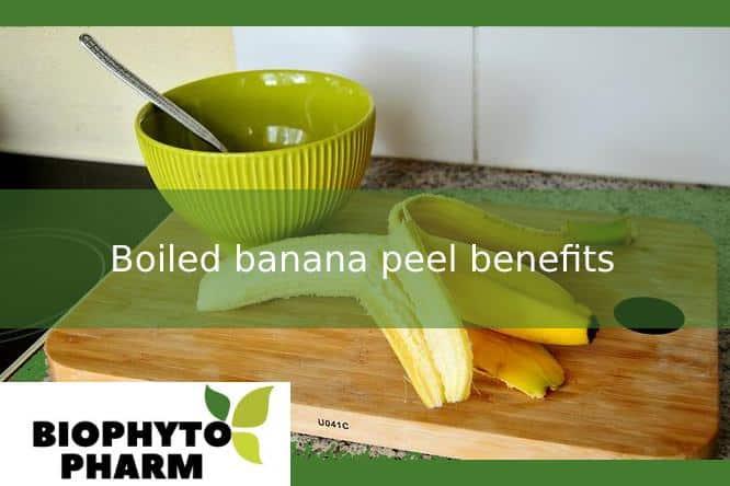 Boiled banana peel benefits