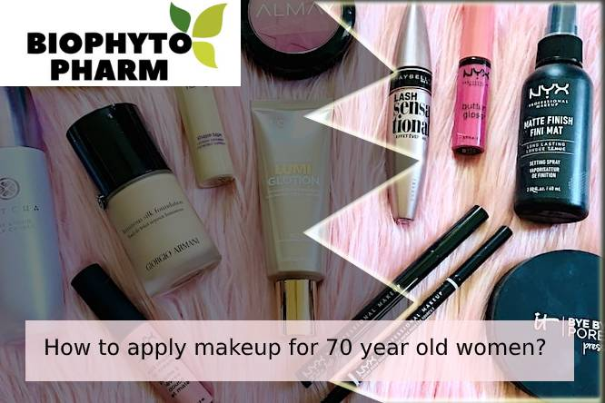 How to apply makeup for 70 year old women