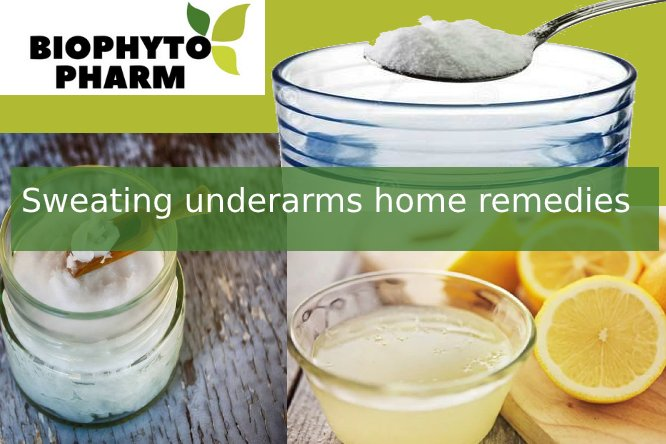 Sweating underarms home remedies