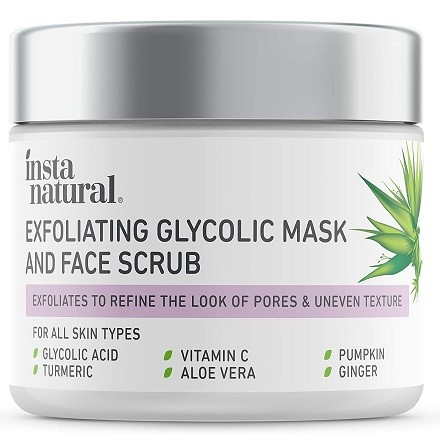 InstaNatural Exfoliating Glycolic Face Mask & Facial Scrub