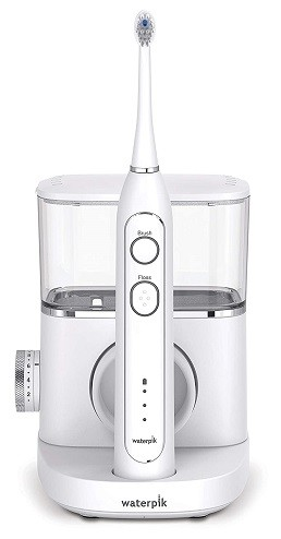 Waterpik Sonic-Fusion Professional Flossing, Electric Toothbrush & Water Flosser Combo in One