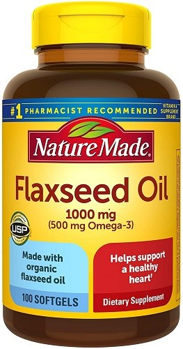 Nature Made Flaxseed Oil 1000 mg Softgels