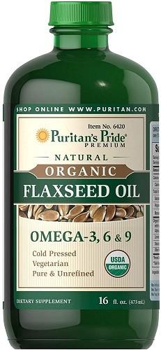 Puritan's Pride Organic Flaxseed Oil